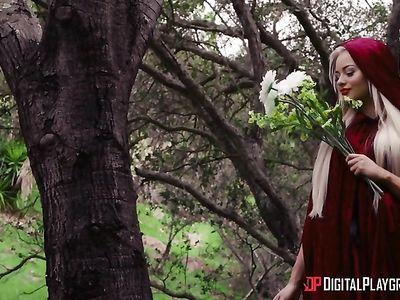Секс порно пародия на Красную шапочку и ее ебля с охотником в красивом фильме